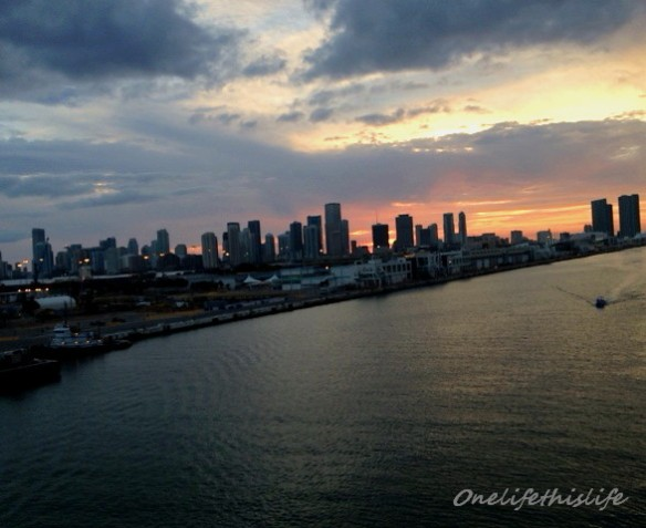 Leaving the Miami Port